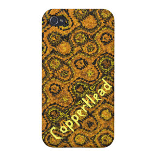 """""""Copperhead"""" Abstract pattern. Cover For iPhone 4"""