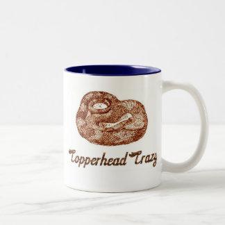 Copperhead loco taza dos tonos