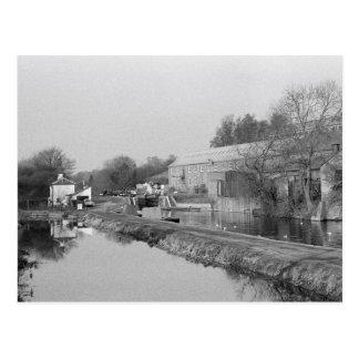 Coppermill lock vintage photo postcard