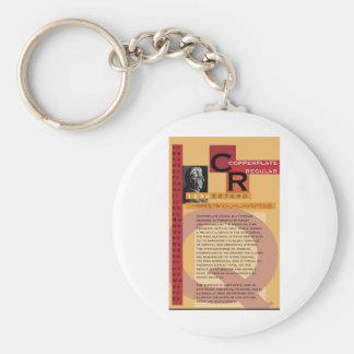 Copperplate Basic Round Button Keychain