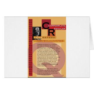 Copperplate Card