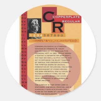 Copperplate Classic Round Sticker