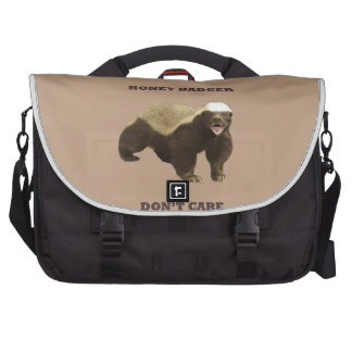 Coppertone Brown Coffee Honey Badger Don't Care Laptop Bags