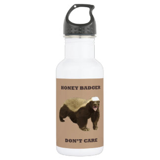 Coppertone Brown Coffee Honey Badger Don't Care 18oz Water Bottle