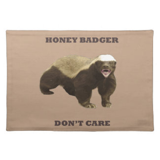 Coppertone Brown Coffee Honey Badger Don't Care Placemat