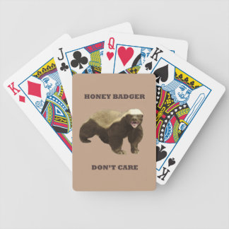 Coppertone Brown Coffee Honey Badger Don't Care Bicycle Playing Cards