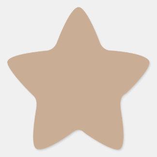 Coppertone Fashion Solid Color Pattern Star Sticker