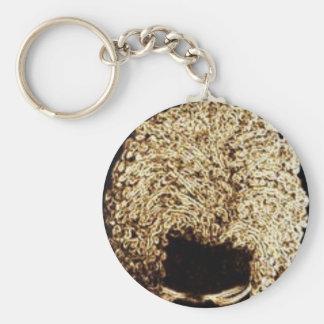 Coppertop Basic Round Button Keychain