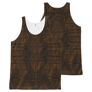 Coppery African Pyramid Design All-Over Print Tank Top