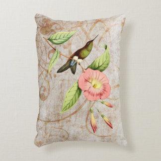 Coppery Bellied Puff Leg Hummingbird Accent Pillow