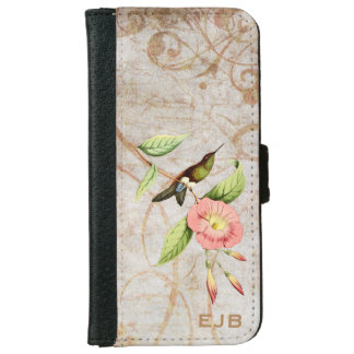 Coppery Bellied Puff Leg Hummingbird Wallet Phone Case For iPhone 6/6s