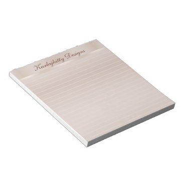 Professional Business Coppery Peach Lined Personalized Notepads