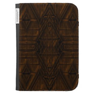 Coppery Steampunk Pyramid Design Kindle 3 Cases