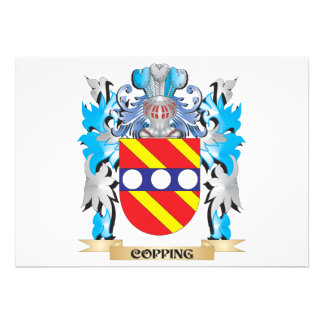 Copping Coat of Arms - Family Crest Personalized Invitation