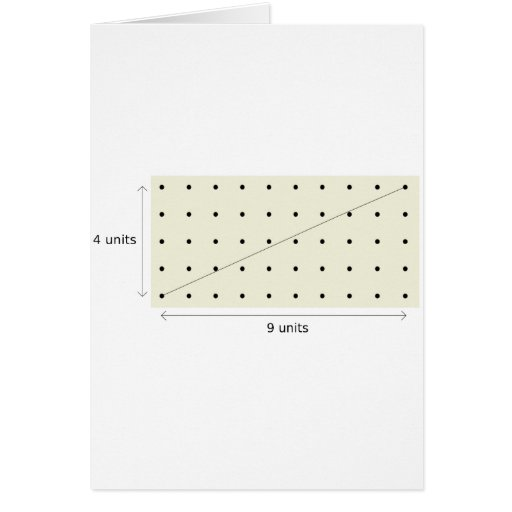 Coprime Lattice of 4 and 9 Greeting Card