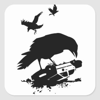 Cops and Crows Square Sticker