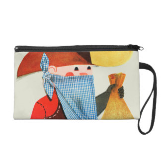 Cops and Robbers Wristlet Purse