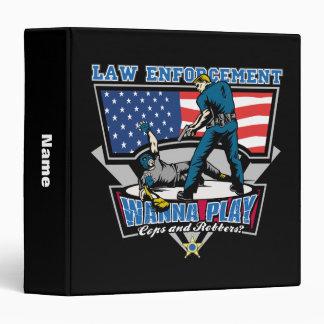 Cops and Robbers Vinyl Binder