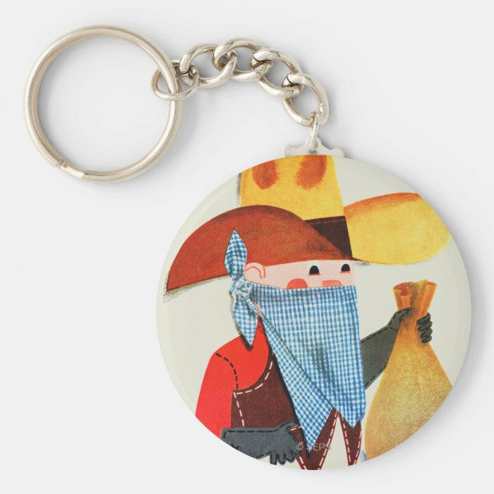 Cops and Robbers Keychain