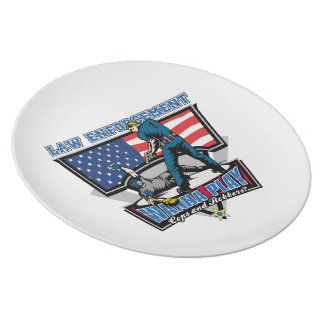 Cops and Robbers Melamine Plate