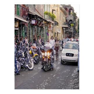 Cops, Bikers, and Voodoo Postcard