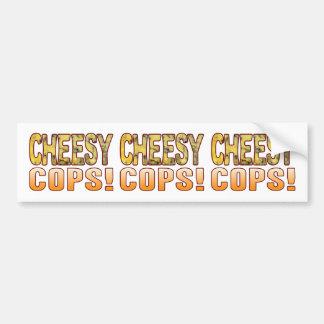Cops Blue Cheesy Bumper Sticker