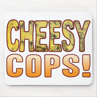 Cops Blue Cheesy Mouse Pad