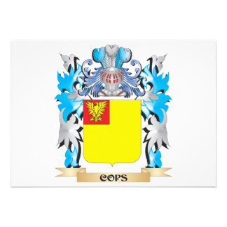 Cops Coat of Arms - Family Crest Custom Announcement