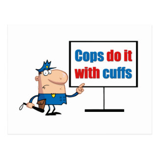 cops do it with cuffs postcard