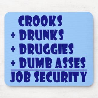 COPS job security Mouse Pad