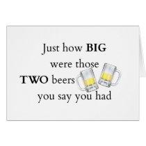 Cops Joke, How big.. Card