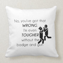 Cops Jokes Gifts Throw Pillow