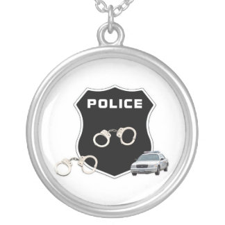 Cops Logo Silver Plated Necklace