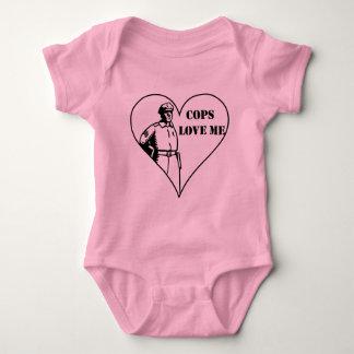 Cops Love Me Baby Bodysuit