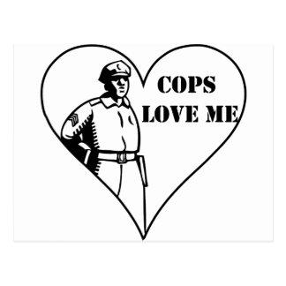 Cops Love Me Postcard