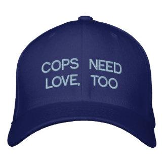 COPS NEED LOVE, TOO by eZaZZleMan.com Baseball Cap