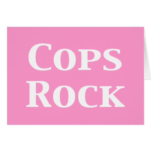Cops Rock Gifts Card