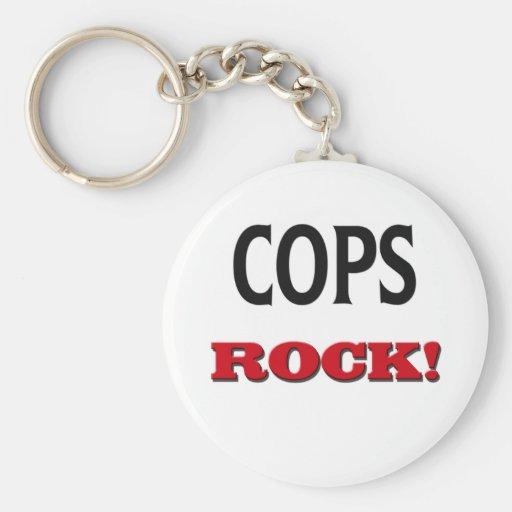 Cops Rock Keychains