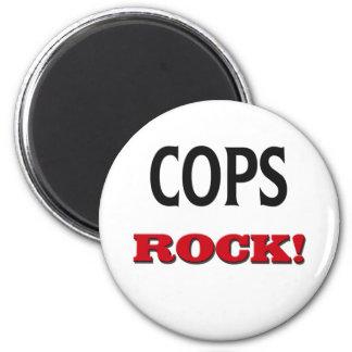 Cops Rock Refrigerator Magnet