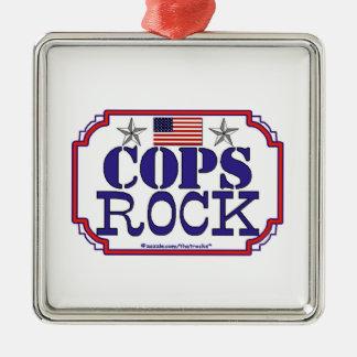 Cops Rock! Christmas Ornaments