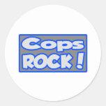 Cops Rock! Round Sticker