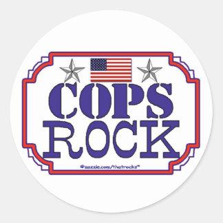 Cops Rock Round Sticker