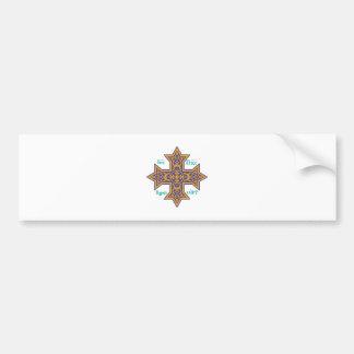 Coptic Cross Car Bumper Sticker
