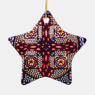 COPTIC CROSS colorful and beautiful Ceramic Ornament