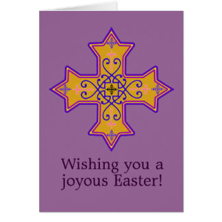 Coptic Cross Easter Card