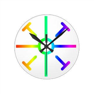 Coptic Cross Round Clock