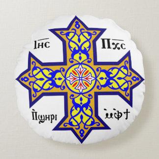 Coptic Cross Round Pillow