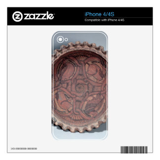 Coptic cup, painted terracotta with swag borders, decals for iPhone 4S