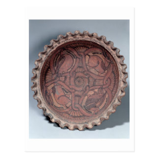 Coptic cup, painted terracotta with swag borders, postcard