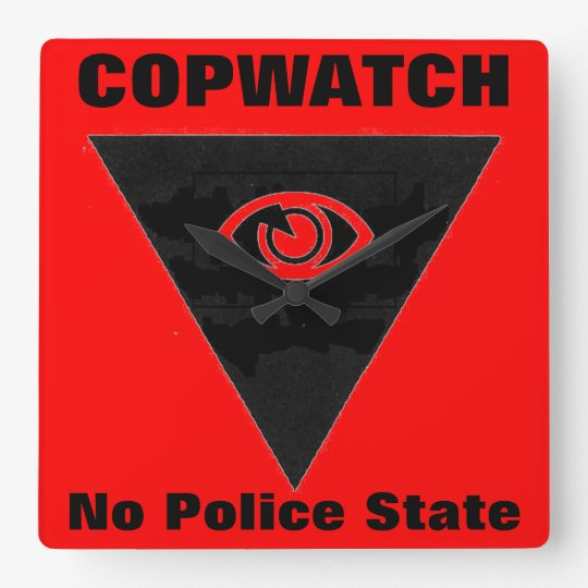 copwatch square wall clock